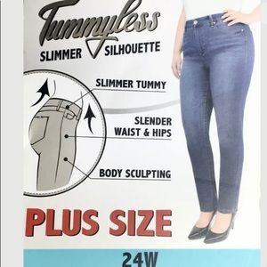 Seven7 Tummyless Slimmer Body Sculpting Jeans 24W